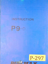 Pullmax P9, P9-D Duplicator Machine, Instructions and Parts Manual