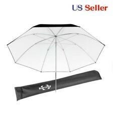 "Studio umbrella 41"" Flash light Reflective Solid White Black metal frame kit"