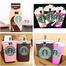 3D Cartone Starbucks in Silicone Gomma Custodia Cover Per iPhone 7/6/5 Samsung