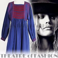 VINTAGE 60s DRESS CLOTHKITS SMOCK VICTORIAN WORK WEAR 70s 10 12 14 16 18 BOHO
