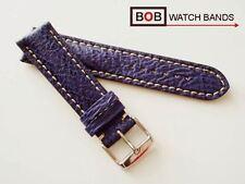 BOB ECHT HAIFISCH LEDERUHRBAND ROYAL BLAU 22 mm kompatibel auch mit Breitling