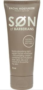 SON of BARBERIANS Face Moisturiser 75ml RRP £16 made in Denmark Eco Vegan