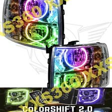 ORACLE Halo HEADLIGHTS for Chevrolet Silverado 07-13 COLORSHIFT LED 2.0 w/remote