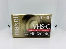Maxell VHS-C Tape TC-30 HGX-Gold SEALED