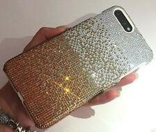 Note 8 Bling Case Made with Swarovski Crystals Faded Gold Rhinestones Gem Cover