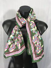 Fashion Vintage Design Floral Green Pink Scarf Shawl Wrap Scarves Accessory