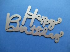 NEW Happy Birthday Words Metal Craft Cutting Die