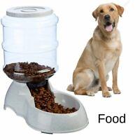 Large Dog Food Water Dispenser Storage Container Pet Cat Gravity Bowl Feeder
