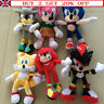 Sonic Plush Doll Toys  Sonic Shadow Amy Rose Knuckles Tails Stuffed Toys