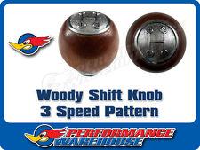 WOODY GEAR SHIFT KNOB 3 SPEED PATTERN