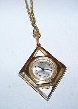 Mother & Kids Vintage Princeton Ladies Incabloc 17 Jewels Goldtone Hand Winding Pendant Watch