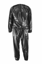SS Heavy Duty Fitness Weight Loss Sweat Sauna Suit Exercise Gym Anti-Rip Black S