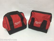 "Two (2) New Milwaukee Heavy Duty Contractors Bags M18 M12 Combo Kit 11""x10""x10"""