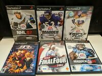 Lot Of 6 PS2 PlayStation 2 Games, Madden, NHL 07, ECT