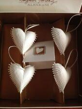 1996 Margaret Furlong set 4 All For One Shell Heart Christmas Ornament Set Nib
