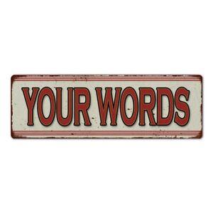 Your Text Here Restaurant Custom Diner Metal SIgn Vintage Look 106180068001