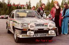 Pentti Airikkala Vauxhall Chevette 2300 Hs 1000 lagos fotografía Rally 1980 1
