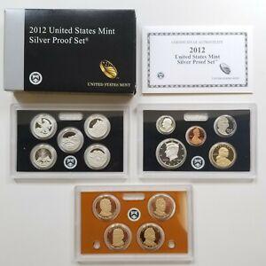 2012 U.S. MINT SILVER PROOF SET WITH COA  AND ORIGINAL BOX!