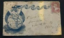 "Rare Vintage 65 CIVIL WAR PATRIOTIC WITH Emblematic slogan ""One Hemisphere One C"