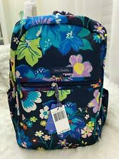 Vera Bradley Lighten up Grand Laptop Floral Backpack Firefly Garden 24l
