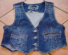 Clockhouse Jacke ärmellos Jeansjacke Weste Jeansweste Größe ca M / 38 blue blau