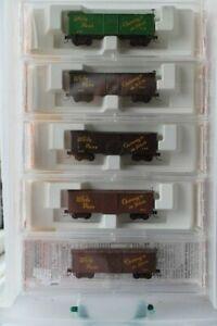 Nn3 Micro Train White Pass and Yukon Freight Car set of 5