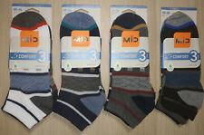 12 pares calcetines deportivos tobilleros. Algodón. Casual. Figuras. Talla 40/46