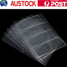 10X Album Pages 4 Pockets Money Banknote Currency Holder Storage Collection