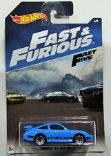 Hot Wheels 2017 Fast and Furious porsche 911 GT3 RS blue 1:64 #4 / 8