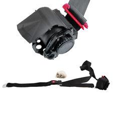 Retractable 3 Point Seat Belt Black w/ Push Button Dynacorn SBR-BK