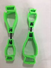 2pcs gloves clips GREEN  gloves grabber workplace gear dual ends warehosing oil