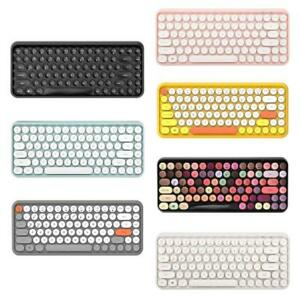 308i Wireless Bluetooth-compatible Keyboard Round Key Cap Gaming Keypad with 84