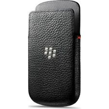 Black Leather Pocket Pouch for BlackBerry Q5 Sleeve Case Cover Genuine