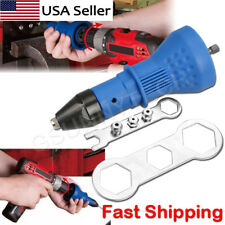 Professional Electric Rivet Nut Gun Adaptor Insert Cordless Power Drill Tool Kit