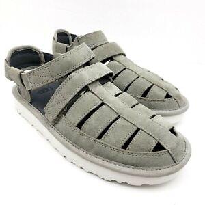 UGG Mens Size 8 Gray Suede Dune Fisherman Strap Comfort Sandals 1099754