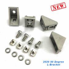 L Bracket Connector W Slide Nut Amp Bolt 2020 2040 Aluminum Profile Set Of 4