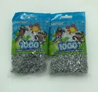 Perler Beads 1,000/Package Gray Lot Set Of 2 Crafts