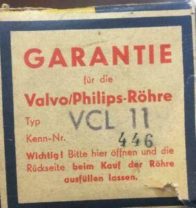 Valvo Philips Röhre VCL 11 Kenn Nr: 446 Neu