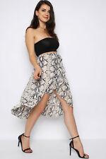 Snakeskin Wrap Frill Midi Skirt (RRP £39.99)