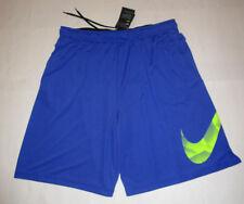 Nwt Mens Nike Dri Fit Royal Blue Yellow Mesh Athletic Shorts 3XL 3X $40