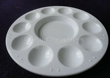 Utility White Plastic 10-well Round Paint Palettes Artist Pallette Hot O1c