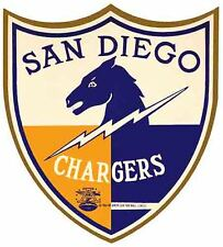 San Diego Chargers    NFL  AFL  Football  1966  Vintage Looking  Sticker Decal