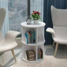 More details for wood revolving bookcase bookshelf free standing display shelving storage uk fast