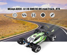 WLtoys A959 1:18 4WD RC Coche Off-road Todoterreno Vehículo 35km/h 2.4GHz 2CH