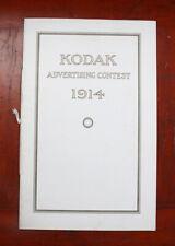 Kodak Advertising Contest 1914 Brochure/cks/208555