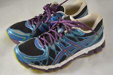 Womens ASICS Gel Kayano 20 Black Purple Running Shoes Size 9 US 40.5 EU