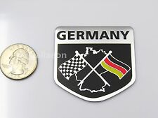 New Metal Aluminium Car sticker Germany Flag
