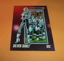 Silver Sable # 65 1992 Marvel Universe Series 3 Base Impel Trading  Card