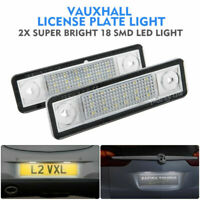 2Pcs LED License Number Plate Light Fit Vauxhall Corsa C D Astra H Insignia UK