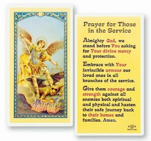 Those in the Service, Jesus, Fratelli Bonella Laminated Prayer Card, 25 Pack